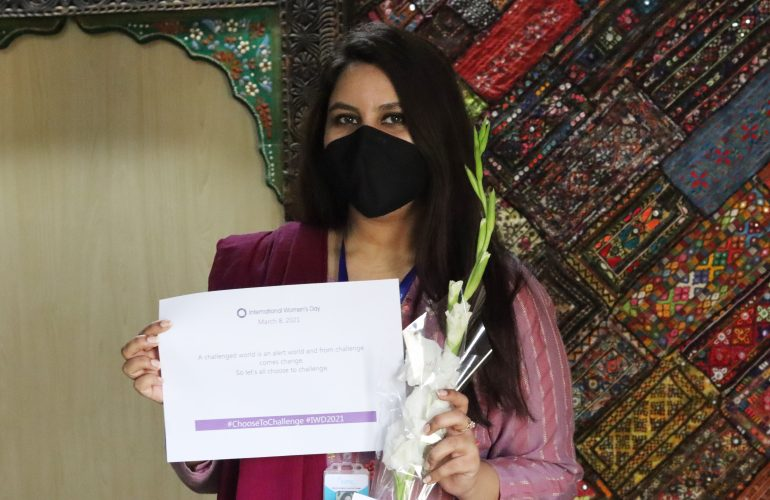 ICMC Team in Pakistan #ChooseToChallenge for International Women's Day Celebration