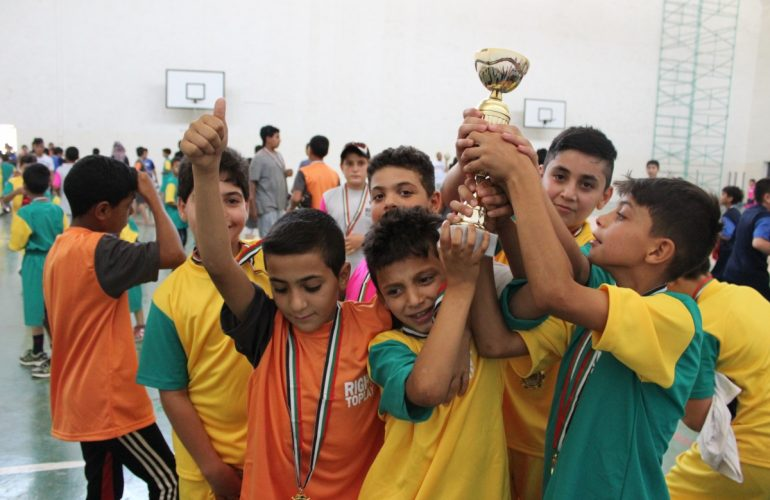ICMC's Partnership With Right to Play Promotes Respect, Teamwork and Leadership in Mafraq