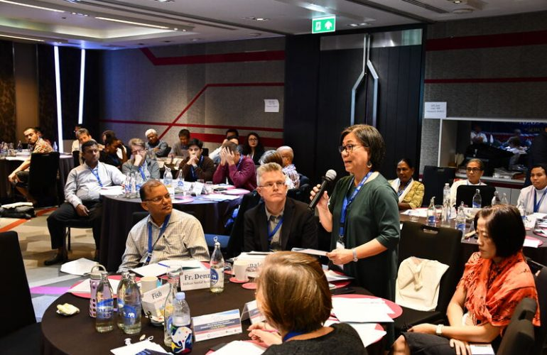 During the Asia-Oceania Working Group meeting in Bangkok in December 2019, participants exchanged best practices on topics including labor migration, refugee services, human trafficking, and interfaith dialogue.