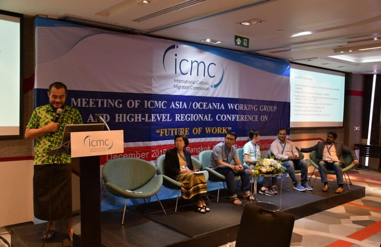 A panel on labor migration touched upon regional issues related to climate change, domestic workers, youth, the informal economy, and rural development.