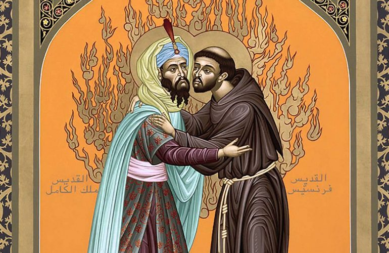 St Francis and the Sultan, icon by Br. Robert Lenz, OFM