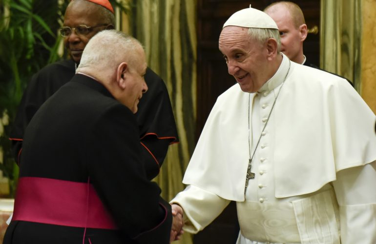 Pope Francis and Msgr. Robert J. Vitillo